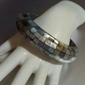 Mosaic Abalone Bangle Bracelet